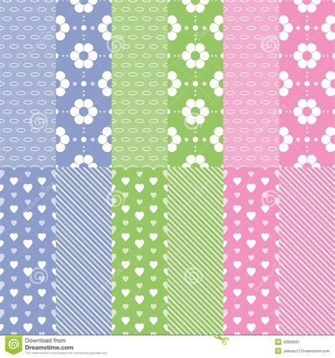 Cute Baby Girl And Boy Pattern Collection Stock Vector   Image: 42629501
