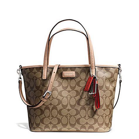 Coach Metro Park Tote coach f27236 park metro signature small tote 25810 coach handbags