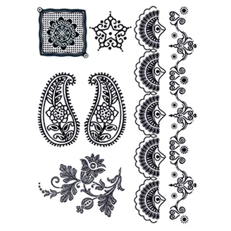 henna temporary tattoo white henna temporary set goimprints