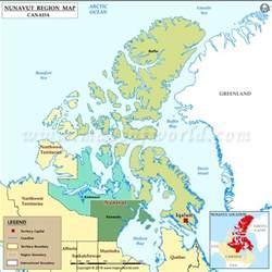 map of canada nunavut nunavut canada map