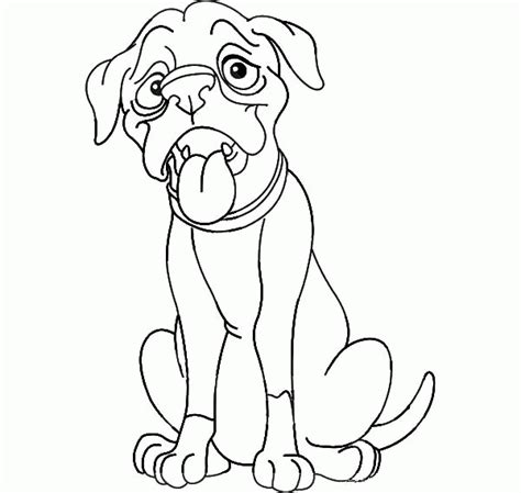 boxer dog coloring pages coloring home