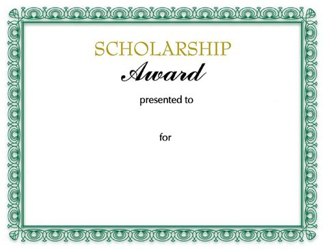 scholarship template scholarship certificates templates template business