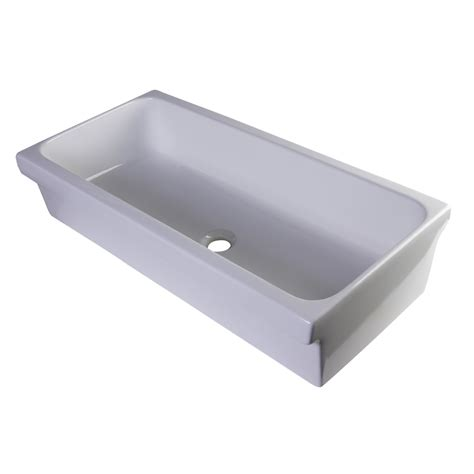 bathroom trough sink alfi brand 35 5 quot above mount porcelain bath trough sink