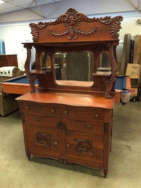 antique oak buffet with mirror antique ornate oak rj horner brothers era sideboard buffet griffins mirror sideboard