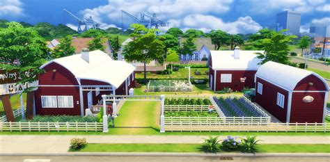 Ranch Style Houses by Animal Farmhouse Sims 4 Houses