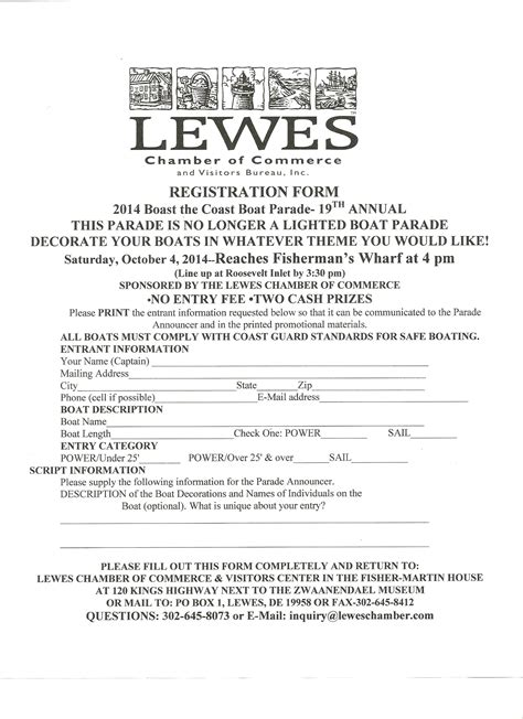 celebrate the nautical history of southern delaware - Boat Registration History
