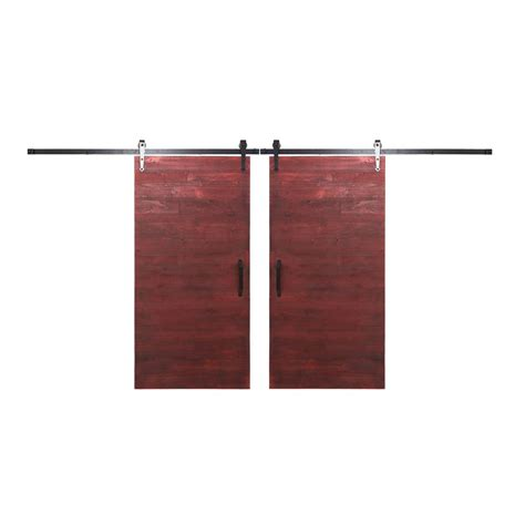 Bi Parting Barn Door Hardware Rustica Hardware Bi Parting 36 In X 84 In Rustica Reclaimed Barn Barn Doors With