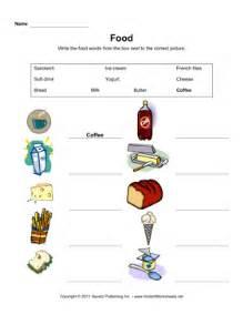 esl food vocabulary 1 instant worksheets