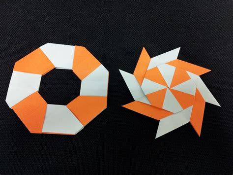 Origami Shuriken 8 Point - how to make a transforming 8 pointed origami