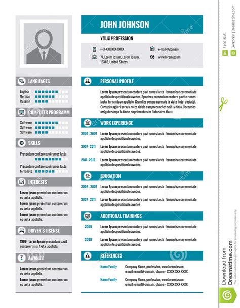 curriculum vitae examples of modern resume contemporary word
