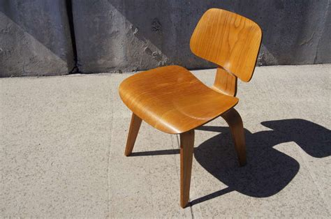 herman miller dining chairs vintage vintage oak dcw dining chair by eames for herman miller at