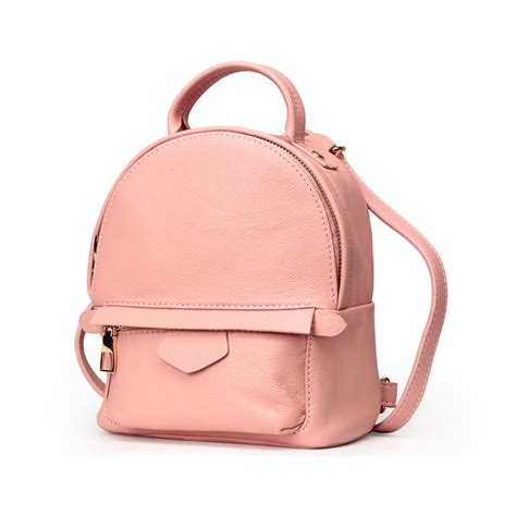 Fashion Korea Shopper Bag In Bag rosaire 171 elfe 187 backpack bag korean style made of cowhide leather with cross in pink