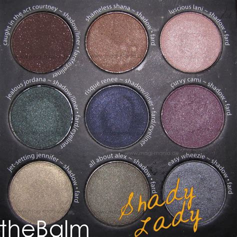 Thebalm Eyeshadow Palette 1 thebalm shady eyeshadow palette vol 1