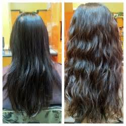 wave perm hairstyle before and after on hair before and after beach wave perm done by taylor yelp