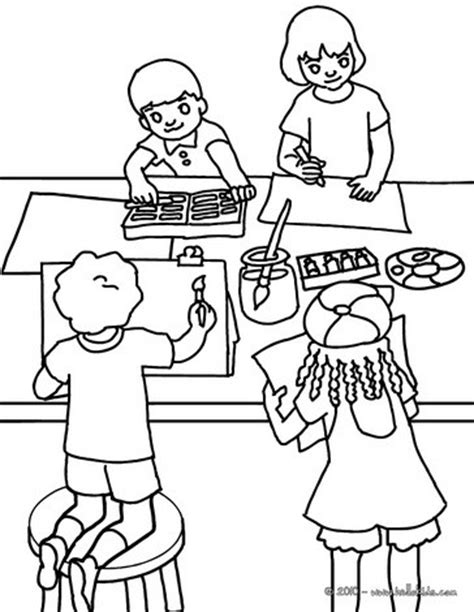 coloring pages for art class drawing lesson coloring pages hellokids com