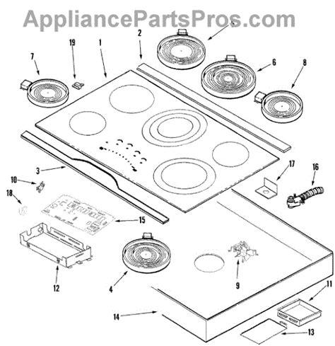 whirlpool cooktop parts whirlpool w10207850 cooktop appliancepartspros