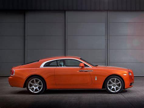 roll royce orange bespoke orange metallic rolls royce wraith oozes modern