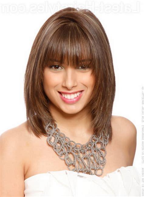 hairstyles bangs mid length medium length hairstyles with bangs 2016