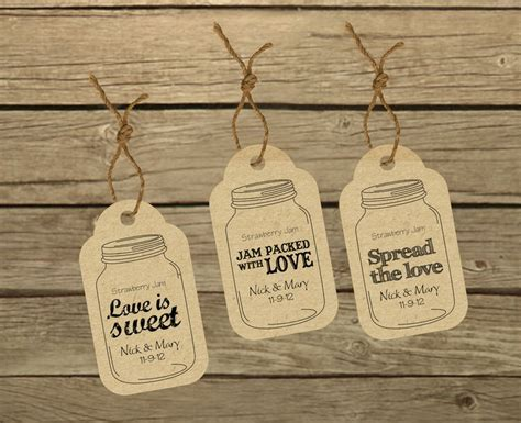 free printable wedding jar labels wedding favor labels three customized ready to print