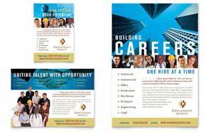 hiring ads templates employment agency fair flyer ad template design