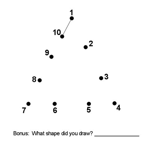connect the dots numbers 1 10 printable connect the dots exercise math and numbers brobst