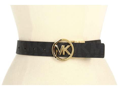 michael kors s mk signature logo reversible belt