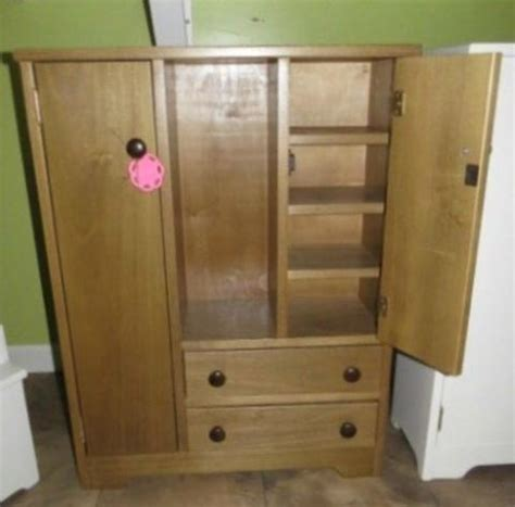 Handmade Furniture Usa - deluxe wood wardrobe for 18 quot dolls amish handmade wooden