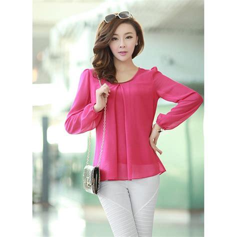 New Blouse Spandek Ceruty Korea korean shirt blouse lace henley blouse