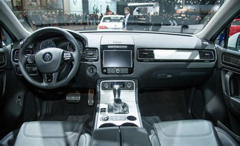 volkswagen touareg interior car and driver