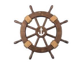 buy rustic wood finish decorative buy rustic wood finish decorative ship wheel with anchor