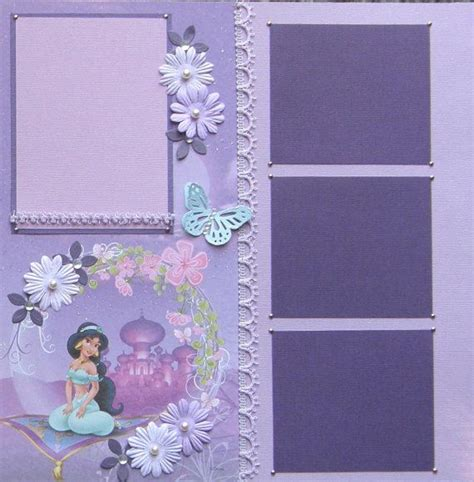 scrapbook layout princess 12x12 double page scrapbook layout disney s princess by