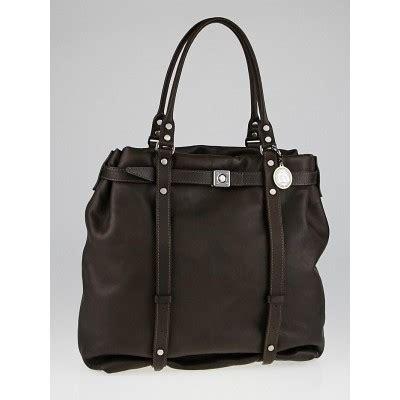 Gellars Lanvin Kentucky Tote by Lanvin Brown Calfskin Leather Kentucky Tote Bag Yoogi S