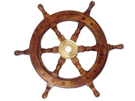 ship wheel decor buy deluxe class wood and brass decorative ship wheel 12