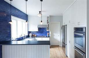 Modern Kitchens With White Cabinets blue and white interiors living rooms kitchens bedrooms
