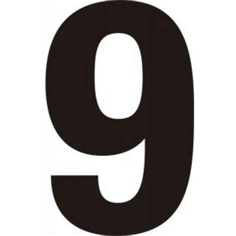 Letter Number 9 Centurion Europe 75mm Black Helvetica Bold Condensed Style Vinyl Number 9 Vinyl Letters