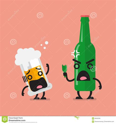 funny beer cartoon angry beer cartoon royalty free illustration