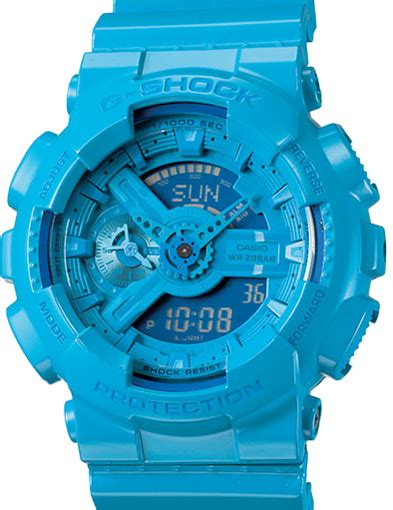 G Shock Blue casio g shock herren armbanduhr mit analog digital