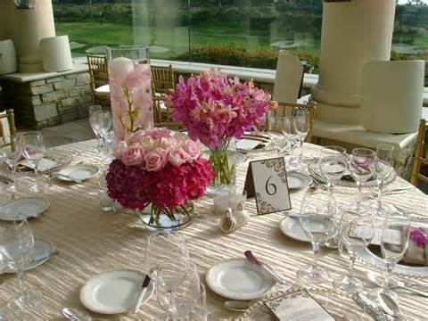 Rehearsal dinner floral centerpieces