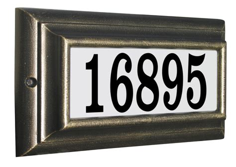 address plaques for house qualarc bayside estate lighted address plaque address