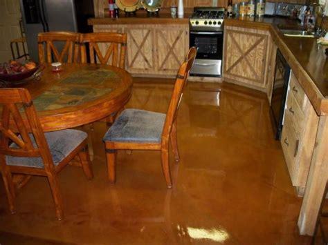 kitchen sleek epoxy flooring kitchen and brown color