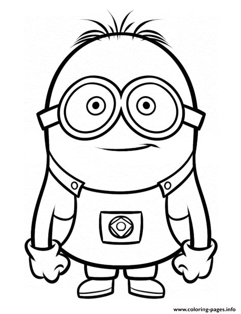 Despicable Me 3 Minion Coloring Pages Printable Three Minions Coloring Template