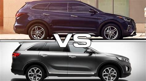 Kia Santa Fe Sport Kia Vs Hyundai Suv Autos Post