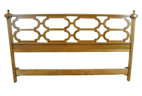 king size brass headboard king size olivewood headboard with brass finials by