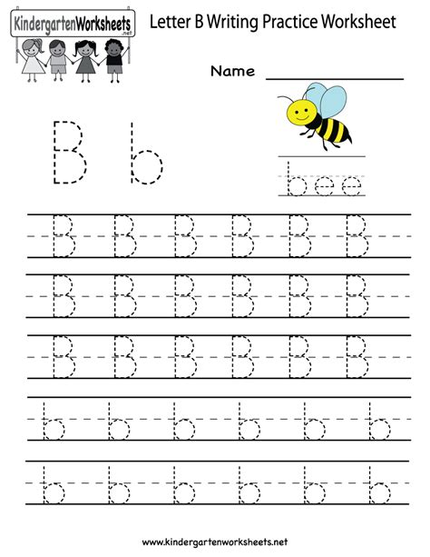 writing prompts for letter tracing draw and write kindergarten letter b writing practice worksheet printable