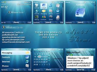 nokia c3 themes windows 7 windows 7 nokia c3 theme