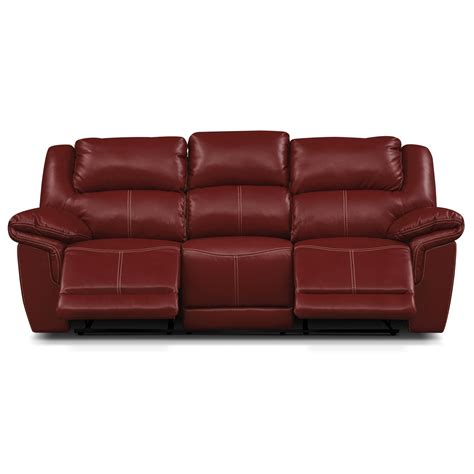 dual reclining sofa jaguar ii leather dual reclining sofa value city furniture