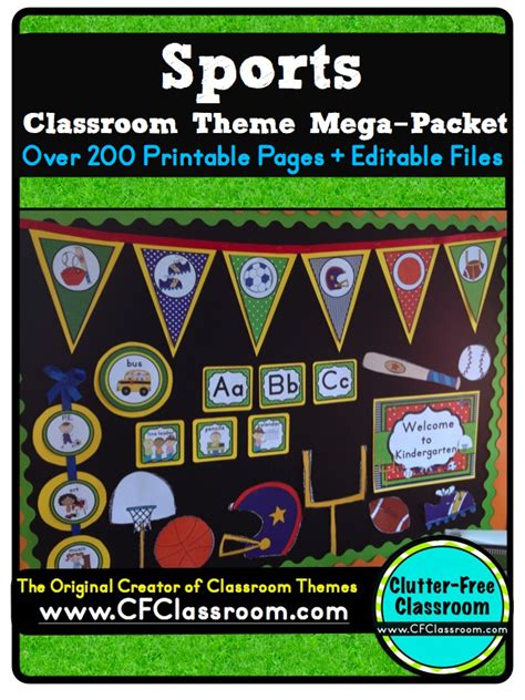 sports themed pictures clutter free classroom sports themed classrooms