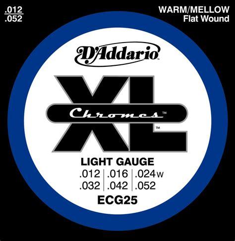 D Addario Electric Guitar Strings Ecg25 Xl Chromes Flat D Addario Light Strings