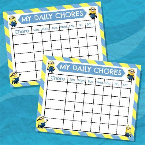 5 best images of daniel s chore chart chore chart idea