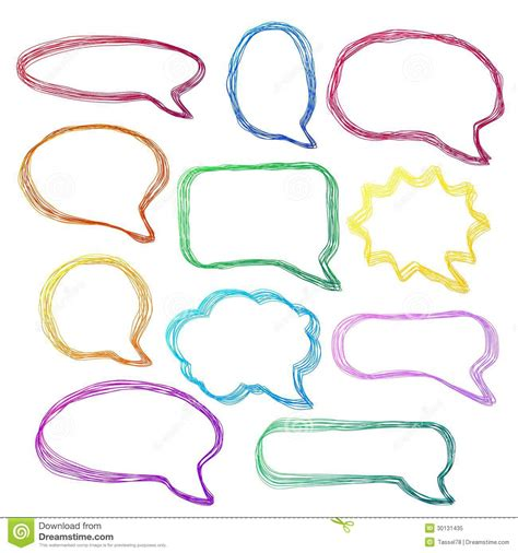 doodle bubbles vector free colorful speech bubbles royalty free stock
